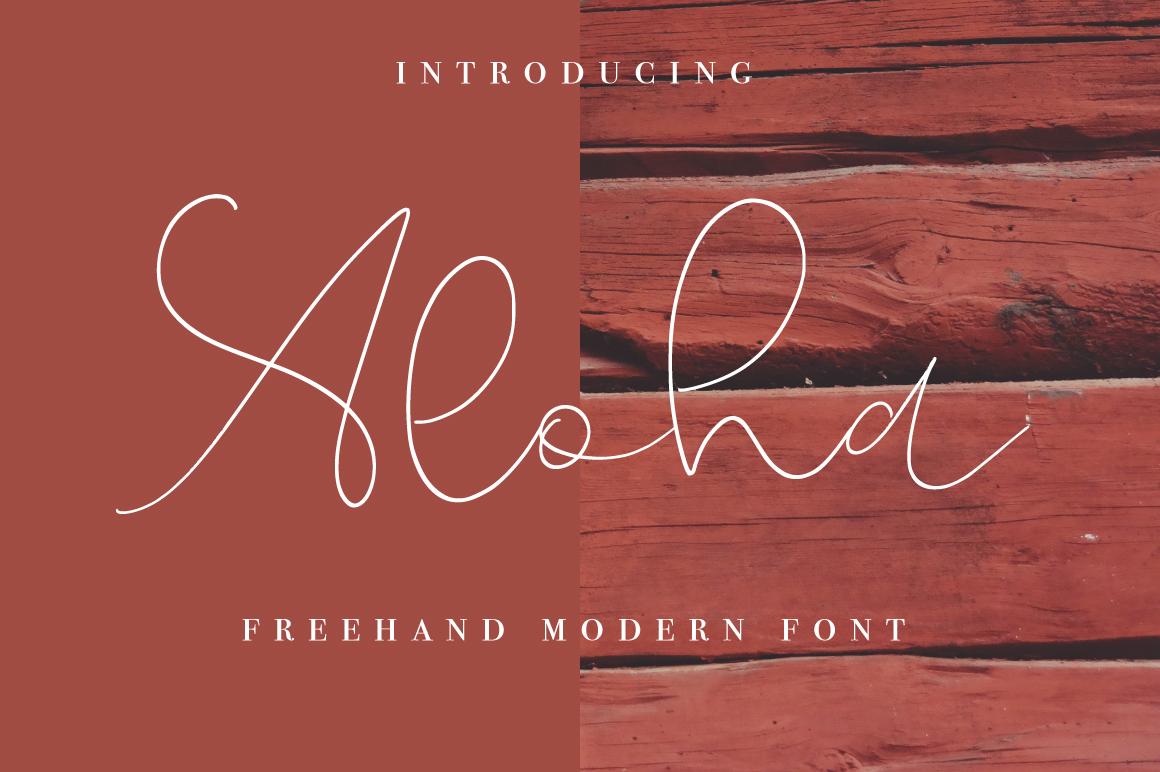 Aloha Script example image 1
