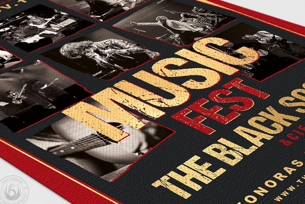 Music Festival Flyer Template V9 example image 6