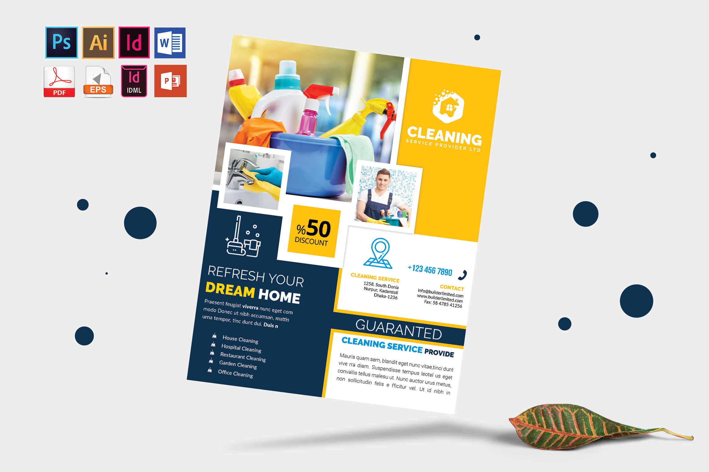 Cleaning Service Flyer Vol-08 example image 3