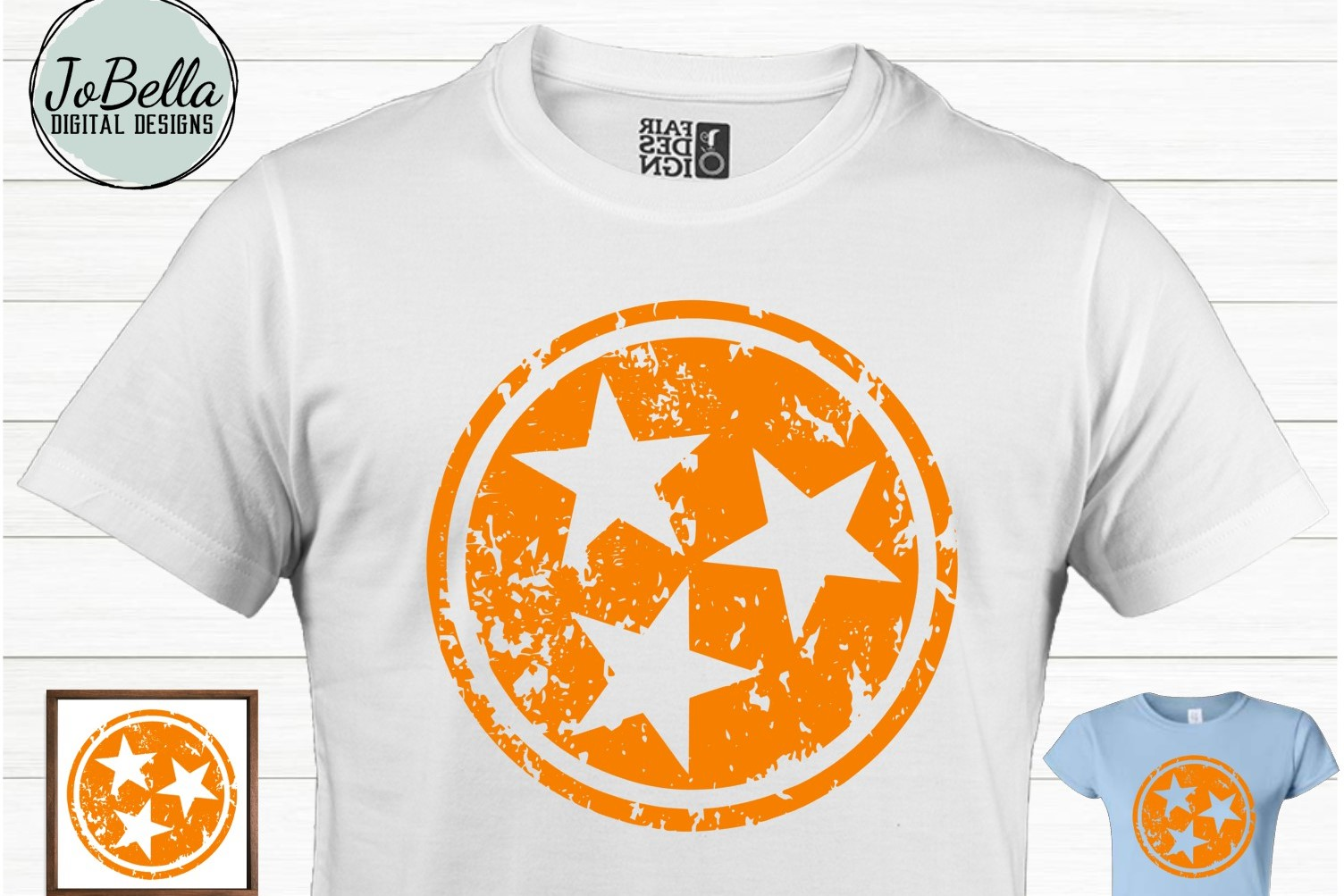 Tennessee Tri-Star SVG and Printable Solid and Grunge Bundle example image 3