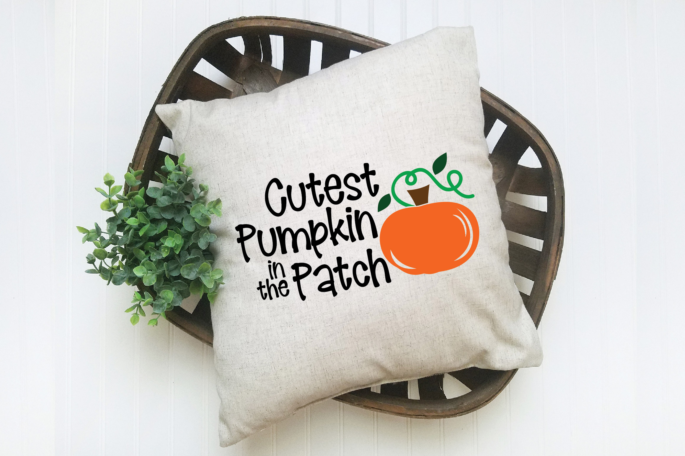 Cutest Pumpkin in the Patch SVG Cut File - Fall Pumpkin SVG example image 6