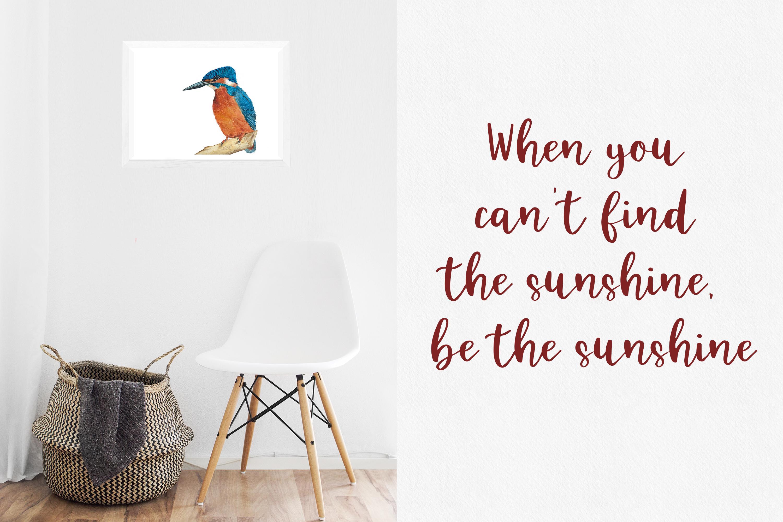 Kingfisher, modern calligraphy font example image 4