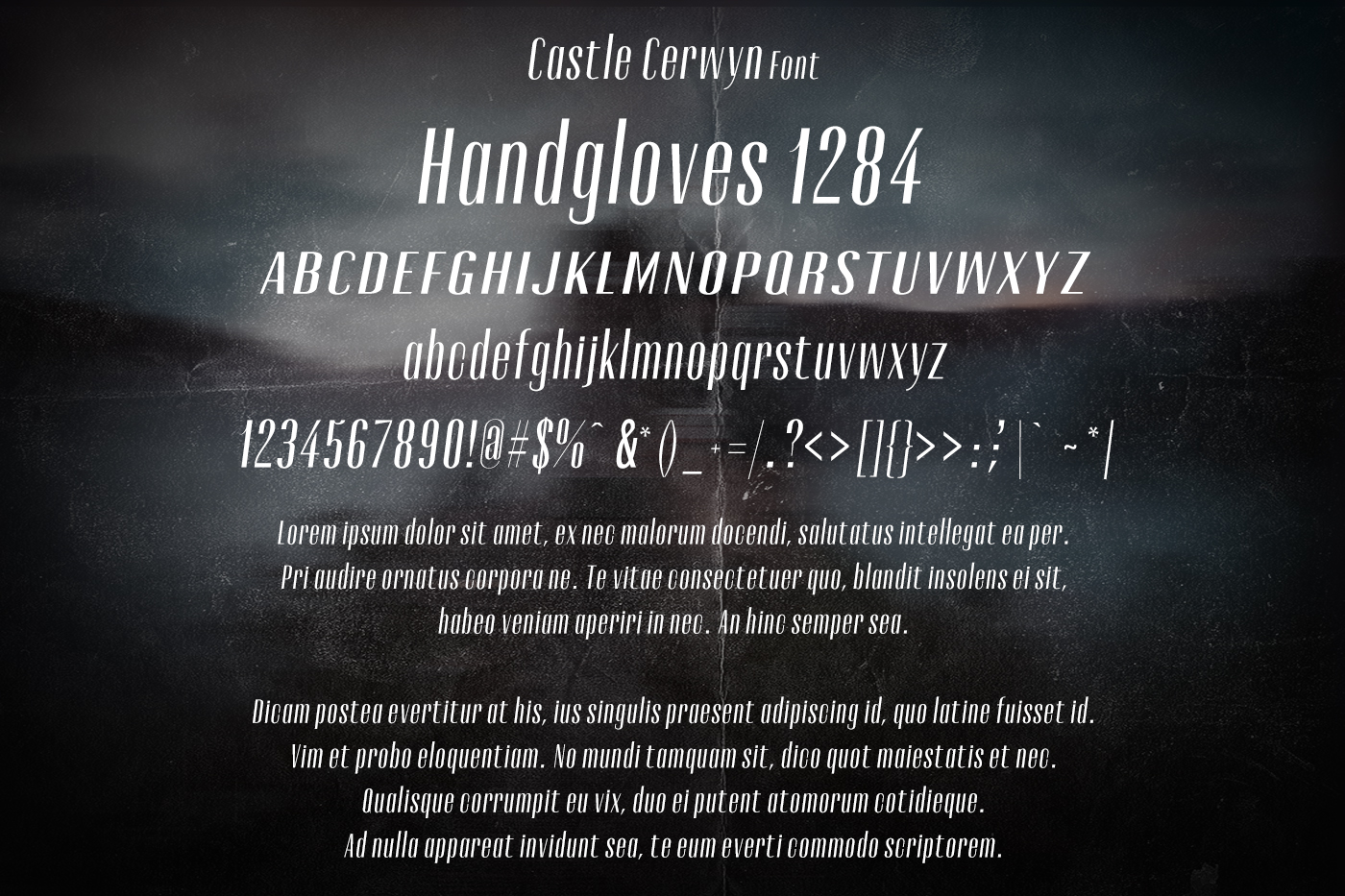 Castle Cerwyn Font example image 2