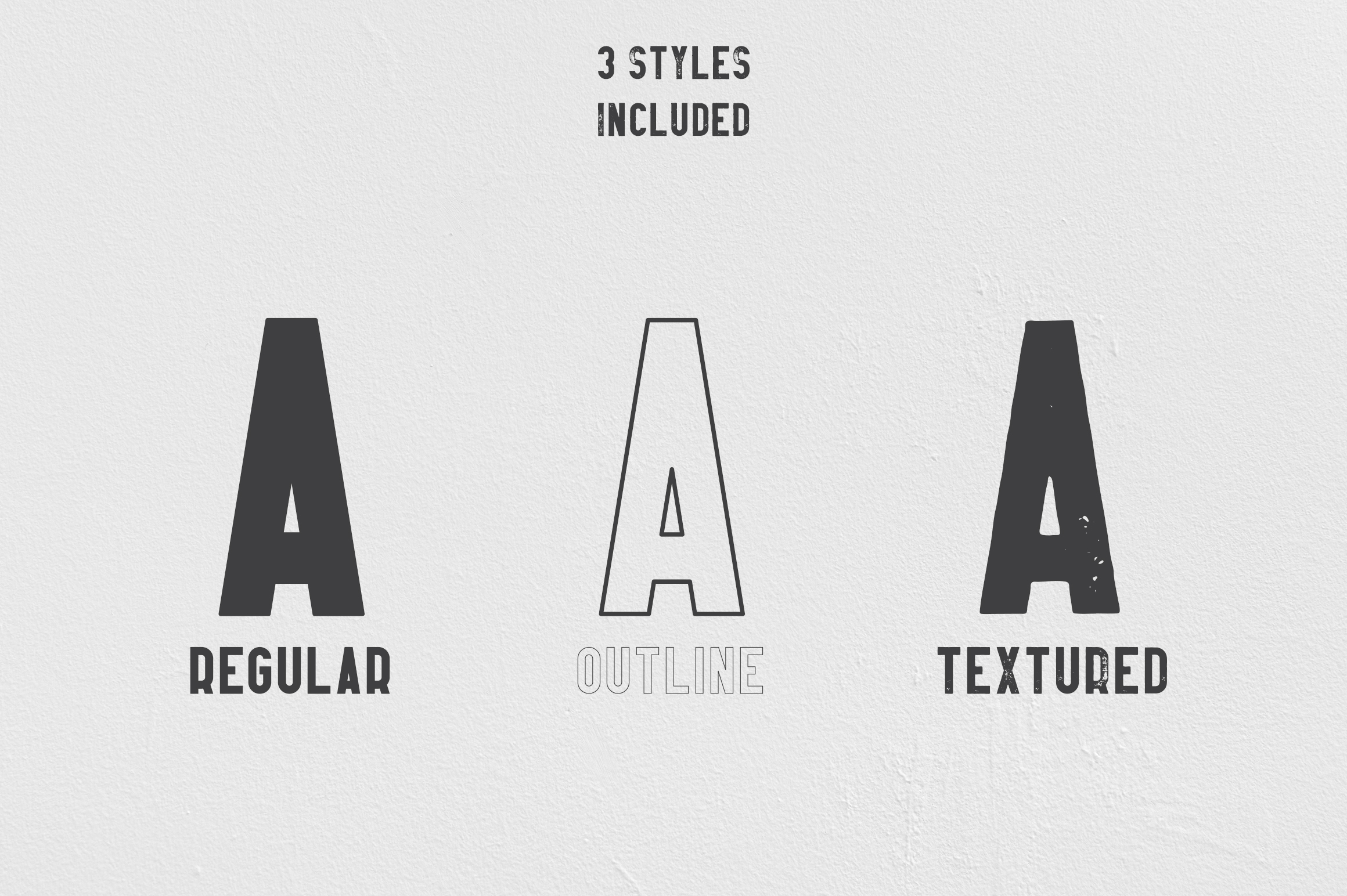 Afterclap typeface - 3 styles example image 2