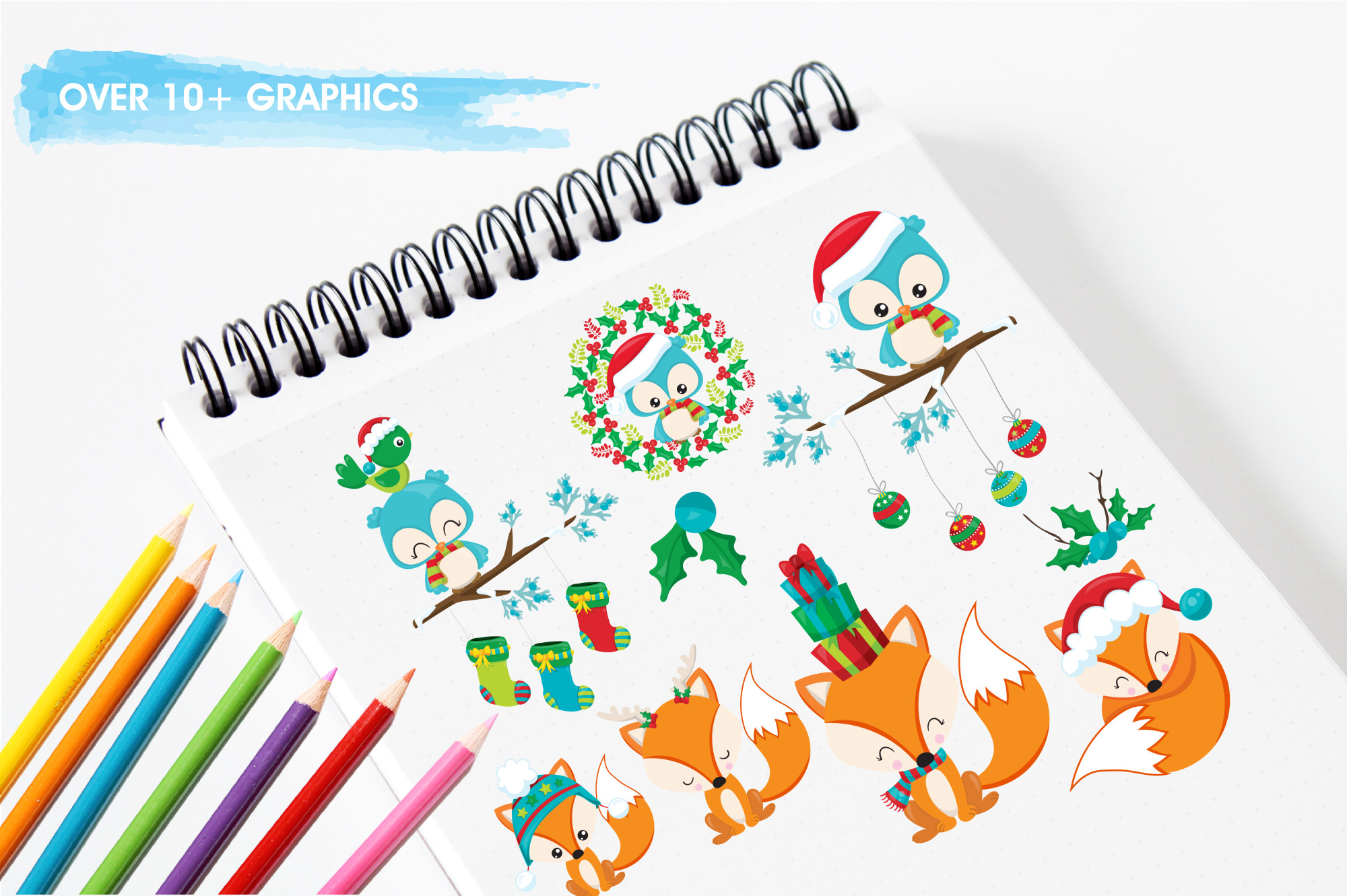 Woodland Christmas  graphics and illustrations example image 3