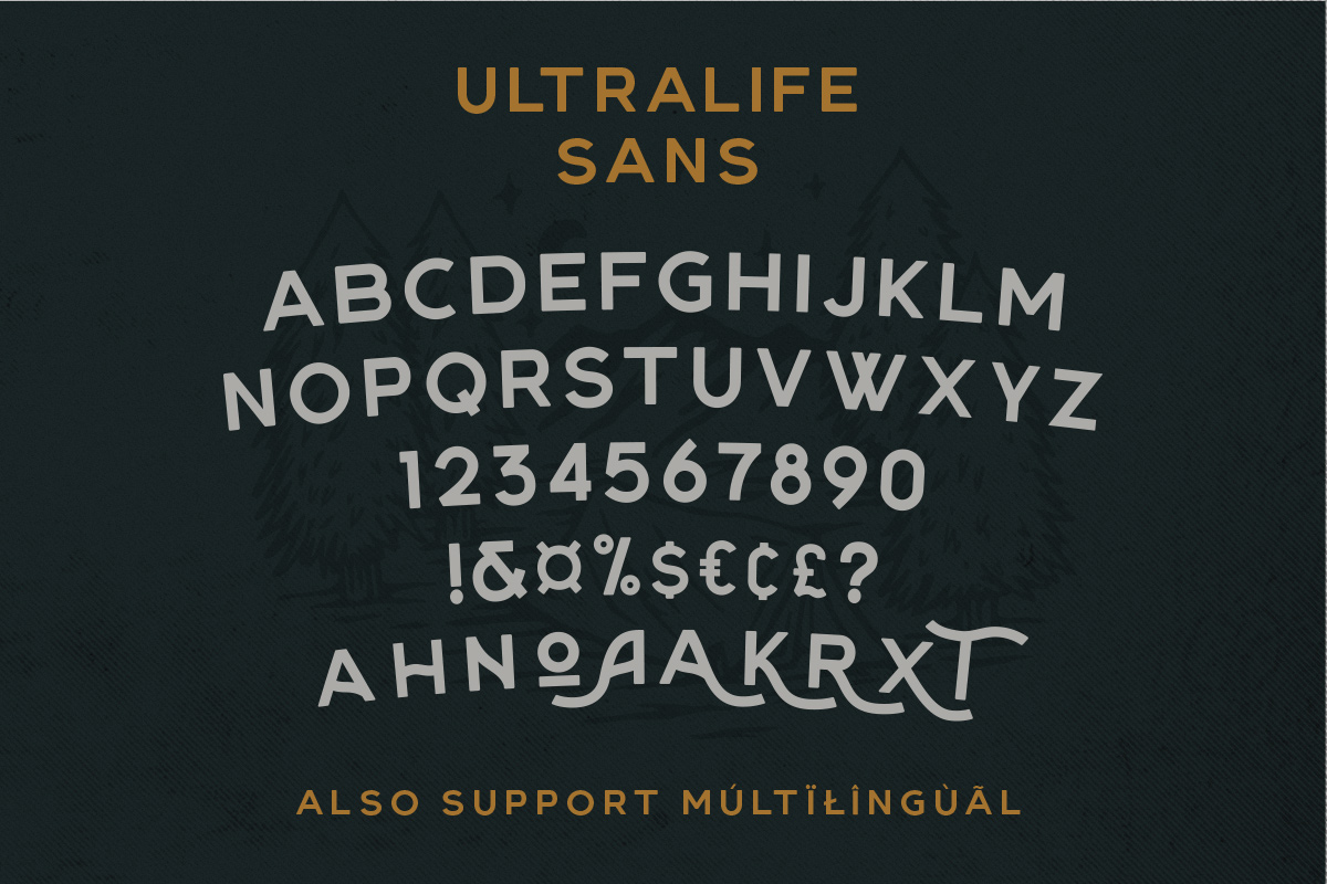 Ultralife Typeface example image 4