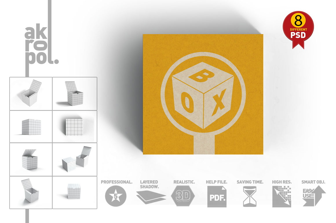 Package Box mock up example image 5