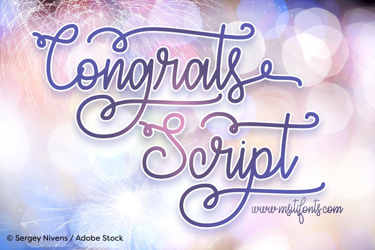 Congrats Script example image 1
