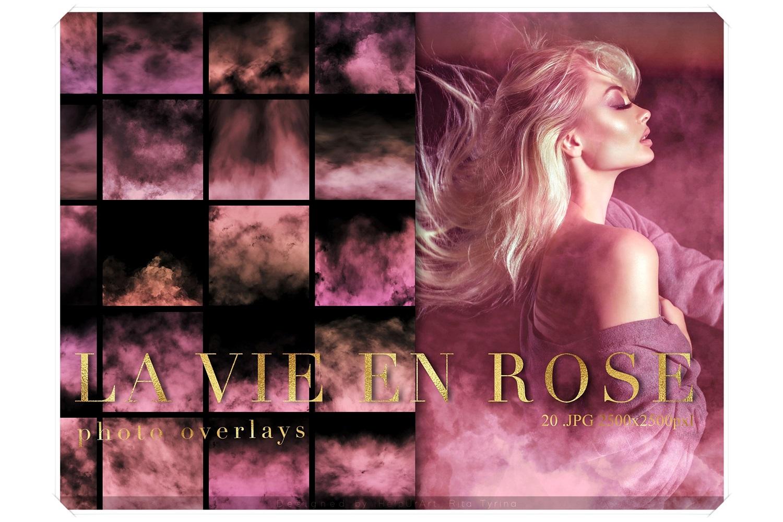 Pink Fog Photo Overlays Bundle - Glamour Photo Filter example image 1