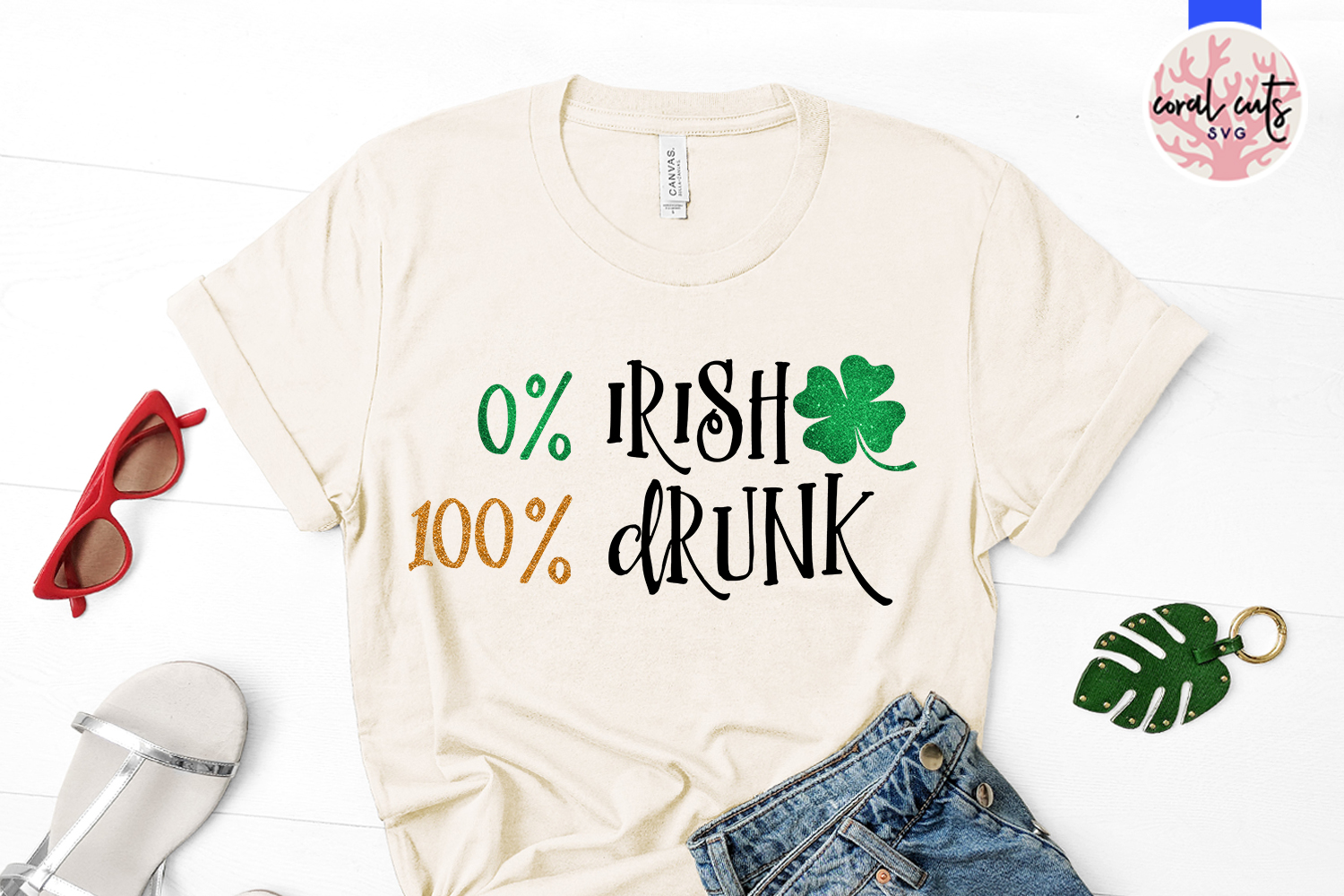 0 irish 100 drunk - St. Patrick's Day SVG EPS DXF PNG example image 2