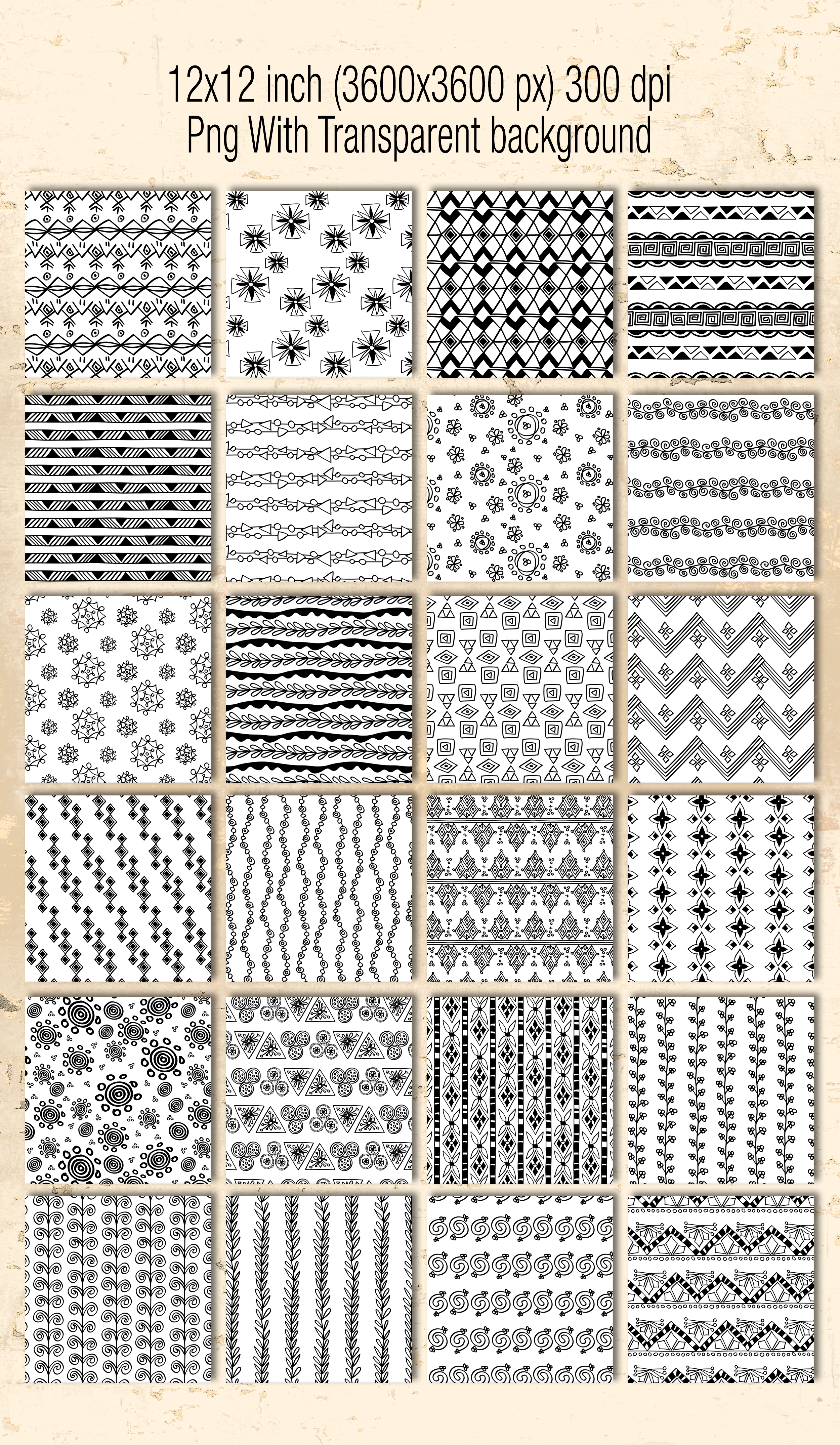 51 hand drawn patterns example image 3