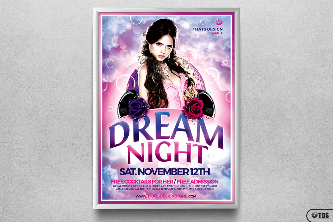 Dream Night Flyer Template example image 6