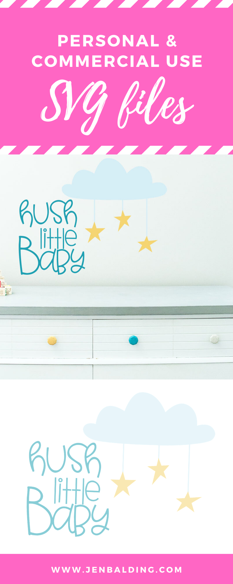 Hush Little Baby SVG example image 2