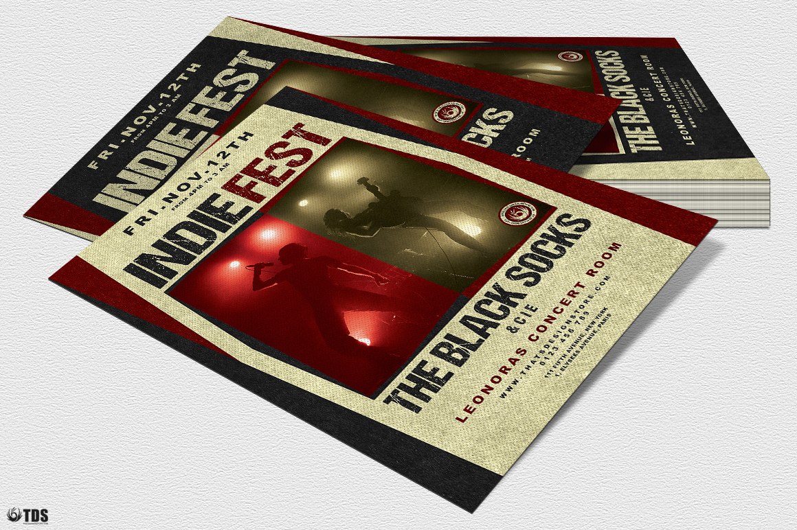 Indie Live Festival Flyer Template V4 example image 4