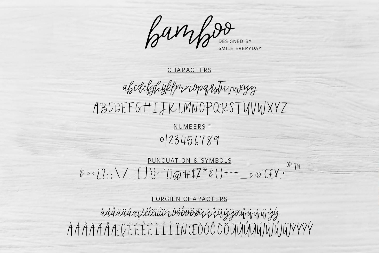 Bamboo Duo Font example image 2