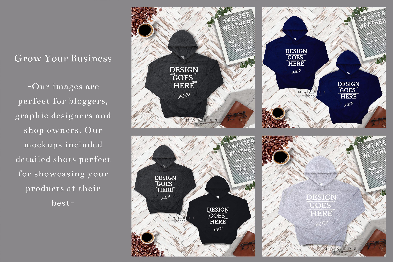 Hoodie Mock-up, Gildan 18500 Sweaters/ Hooded Sweater example image 5