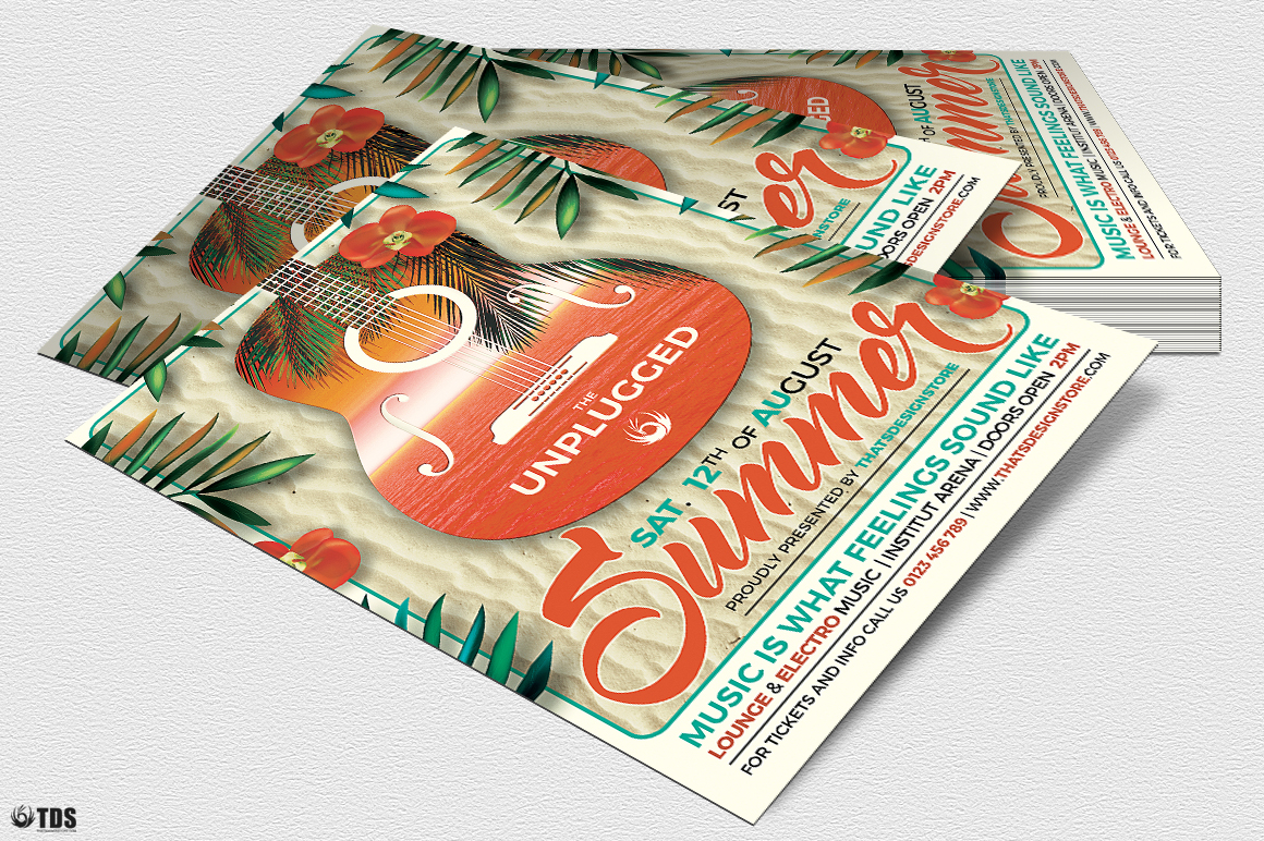 Summer Unplugged Flyer Template V2 example image 4