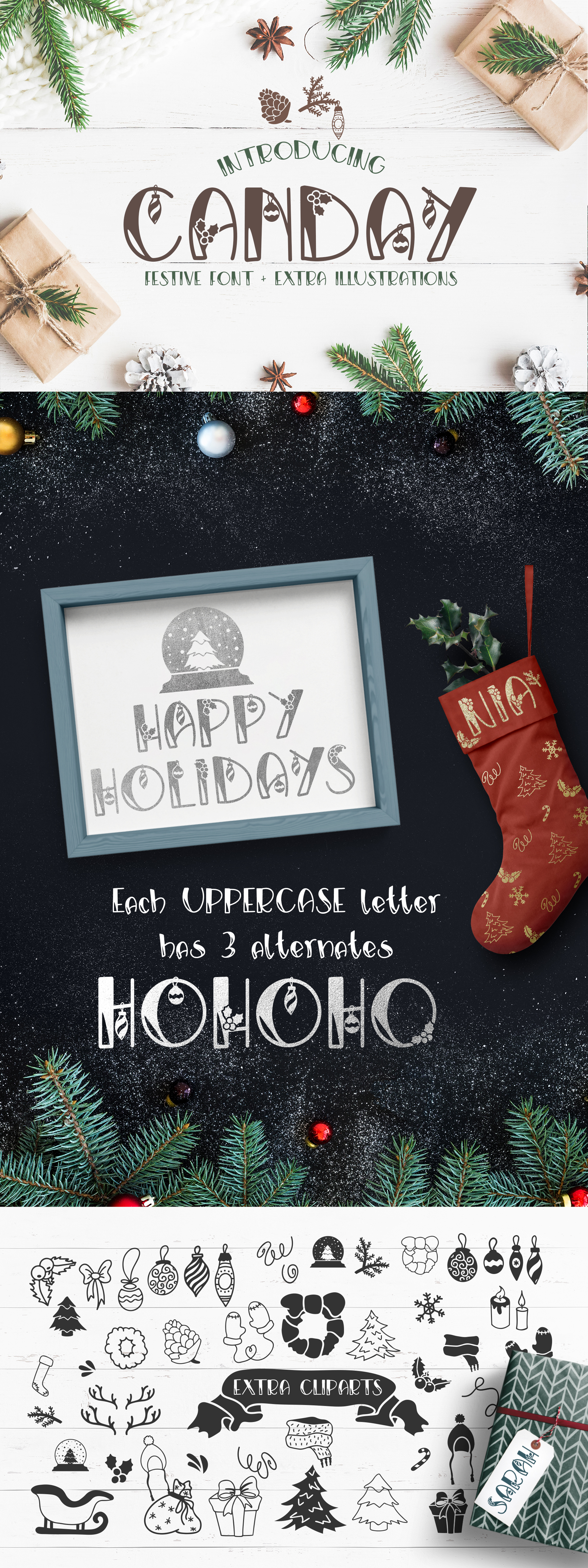 Canday - Festive Font with Extras example image 8