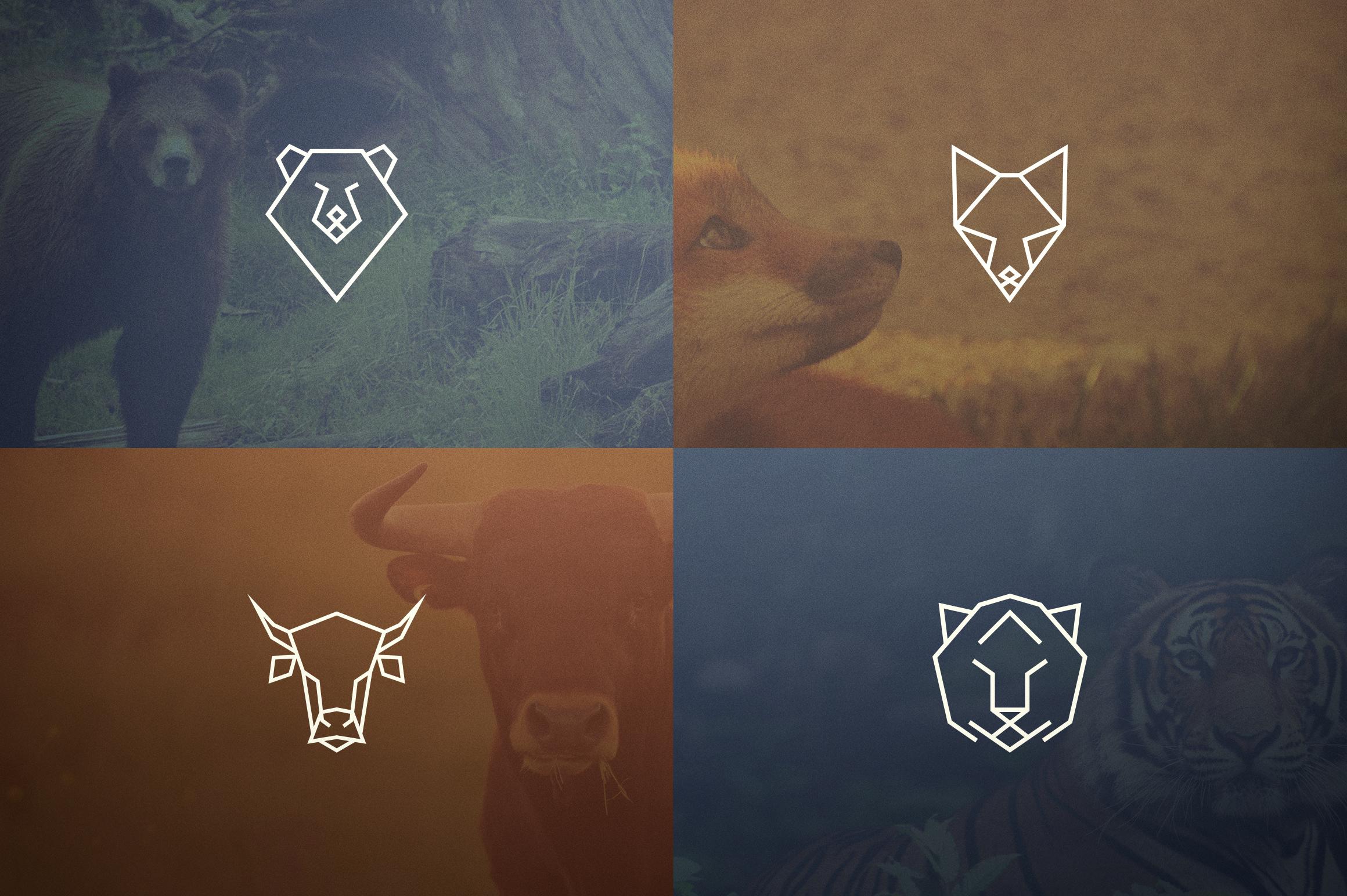 17 Geometric Animal Icons and Logos example image 2