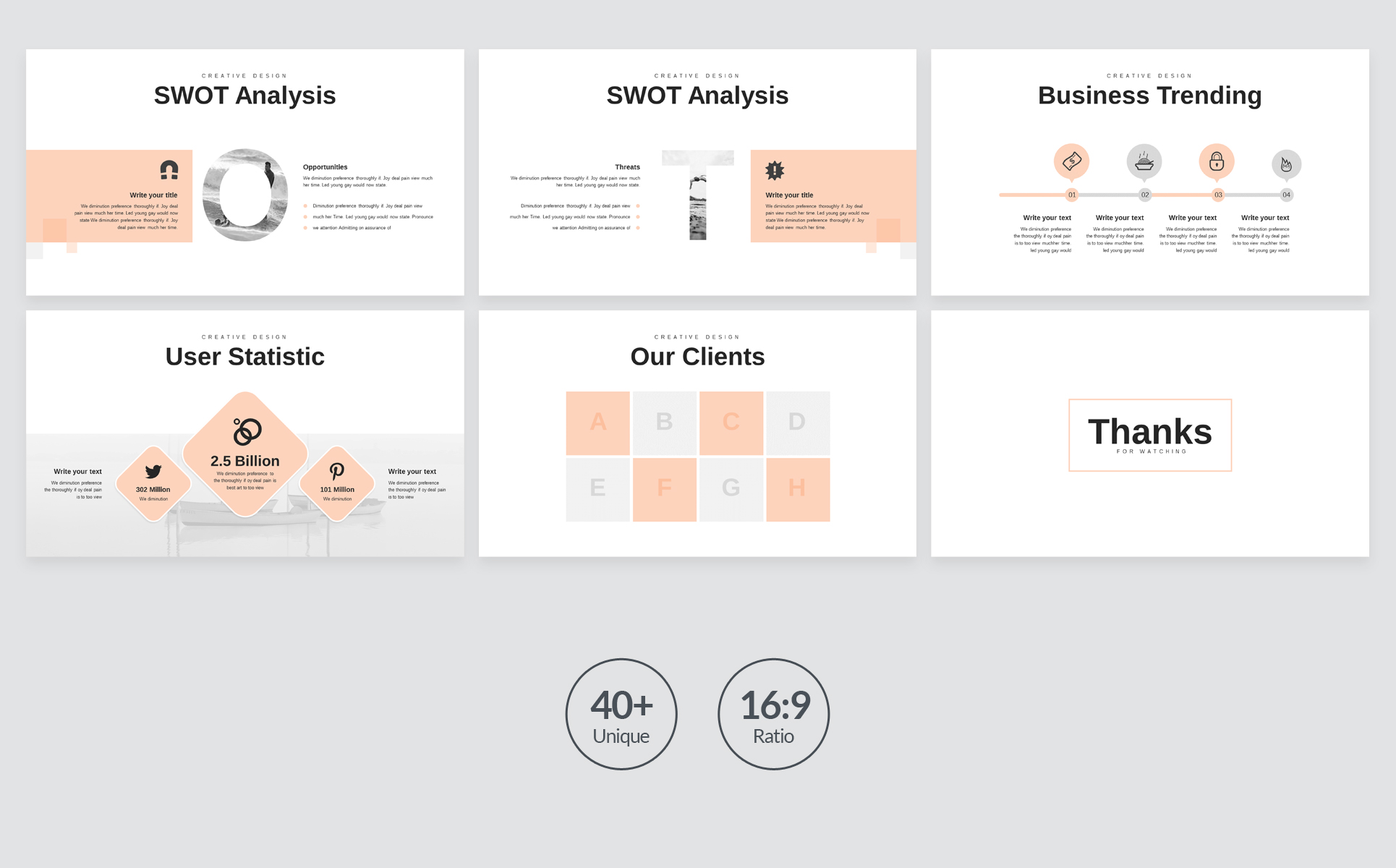 Minimal Business PowerPoint Presentation Template example image 6