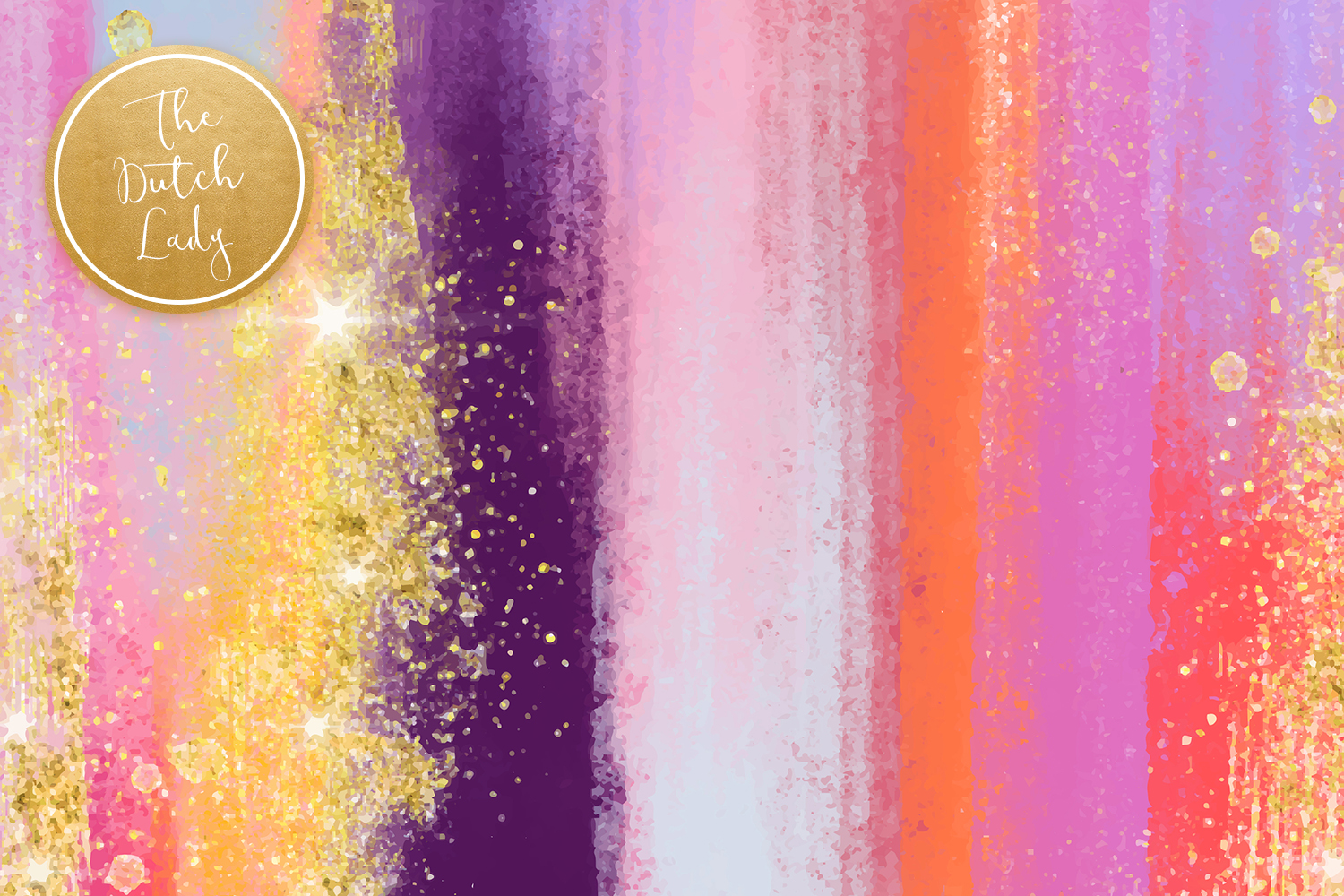 Colorful Brush Strokes & Stains Background Textures example image 5