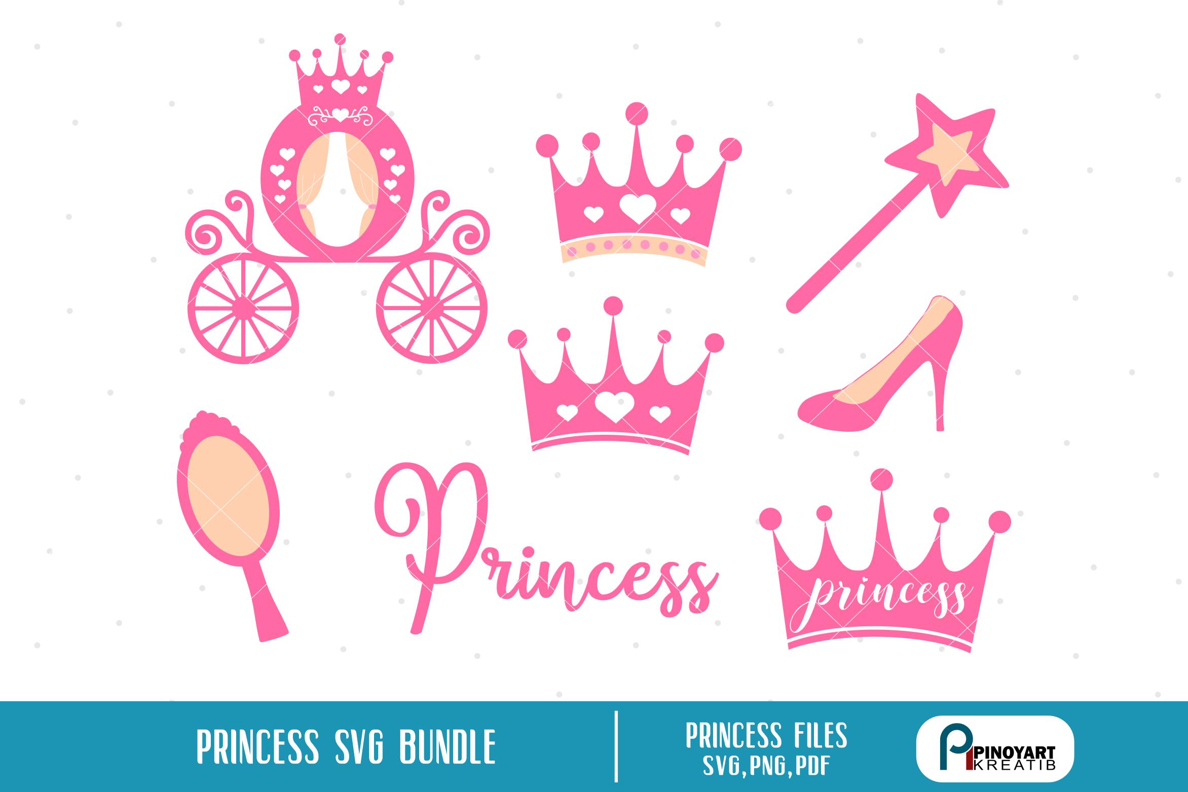 princess svg, princess svg file, birthday princess svg example image 2