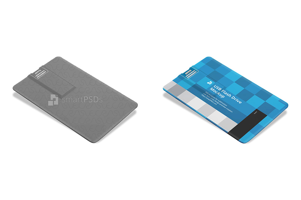 Plastic USB Flash Card Design Mockup example image 3