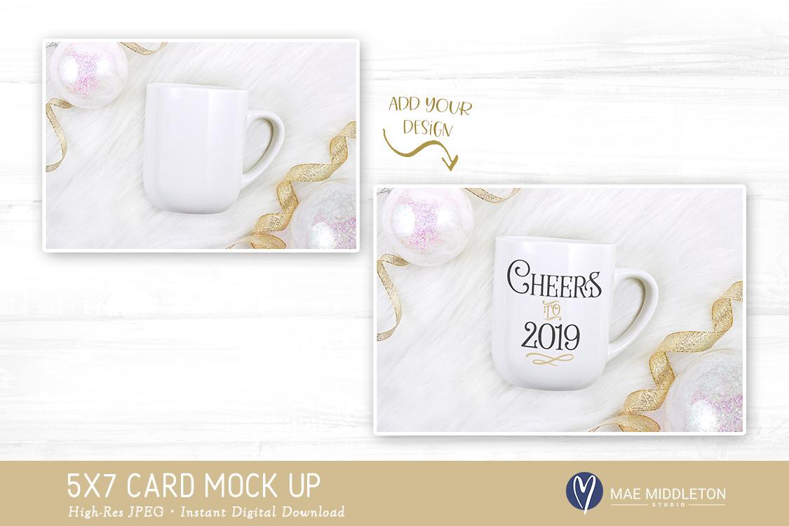 White Mug Mock up for New Year, Holiday, Celebration example image 2