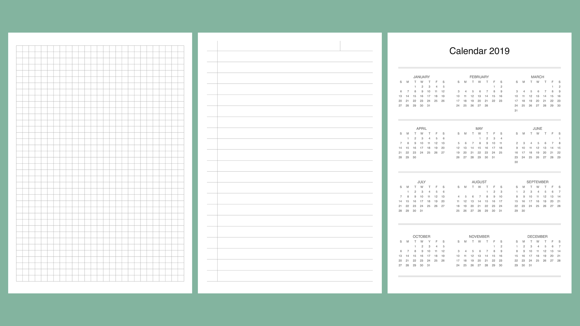 Planner kit vol.4. Universal design example image 8