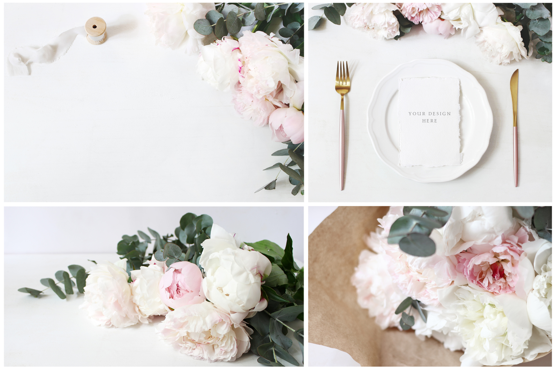 Vintage peony wedding mockups & stock photo bundle example image 8