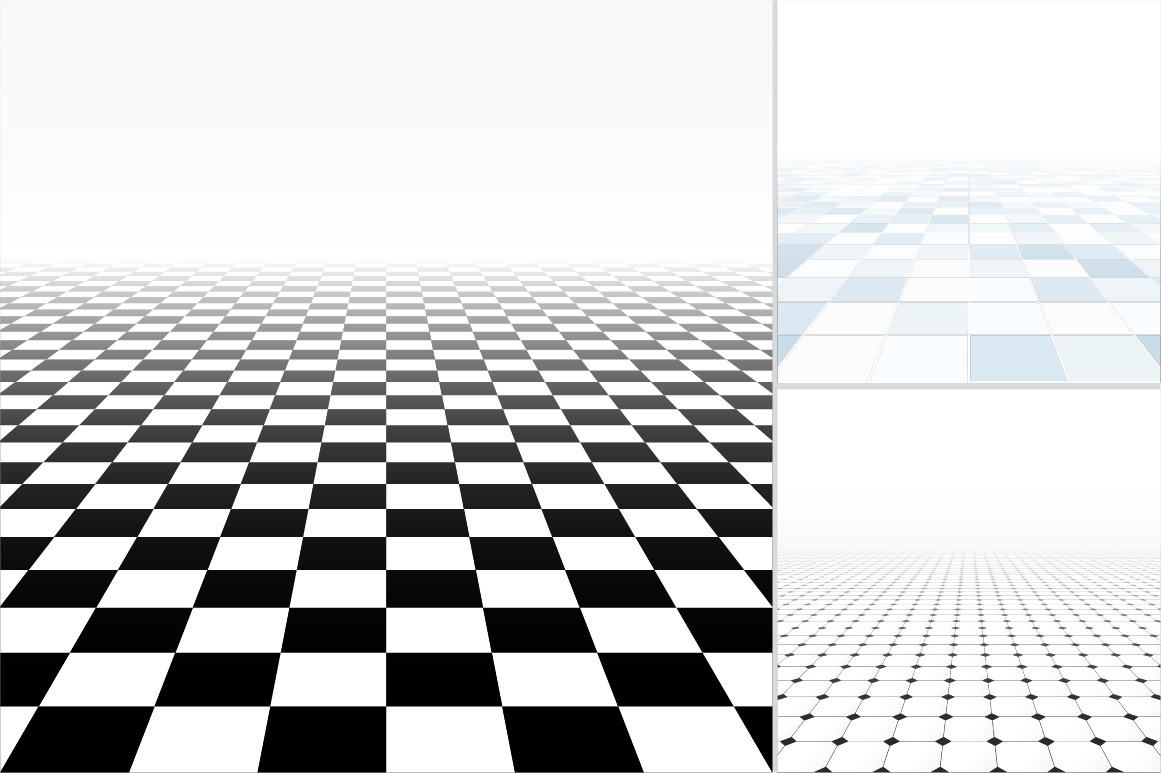 Tiled floor with perspective. example image 7
