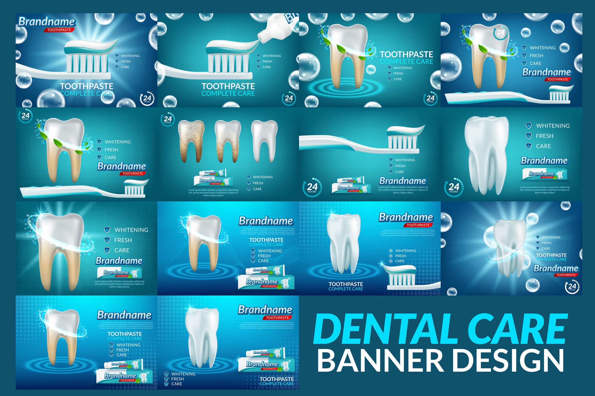 Deep Cleaning Dental Care Background Poster example image 1