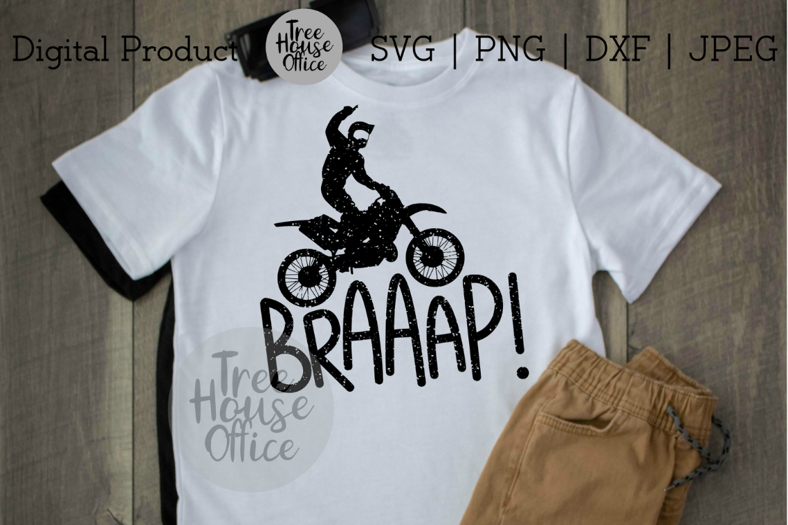 Braaap Funny Dirtbike Motocross Dirt Bike Motorcross SVG PNG example image 2
