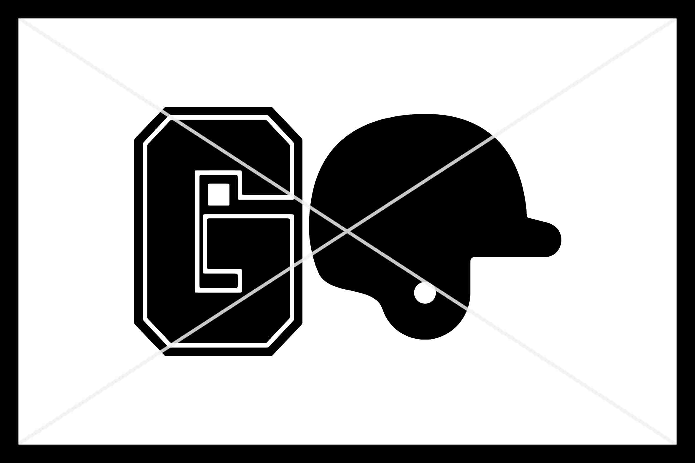 GO Baseball, Cut File, Silhouette Cameo, Cricut, SVG DXF PNG example image 1