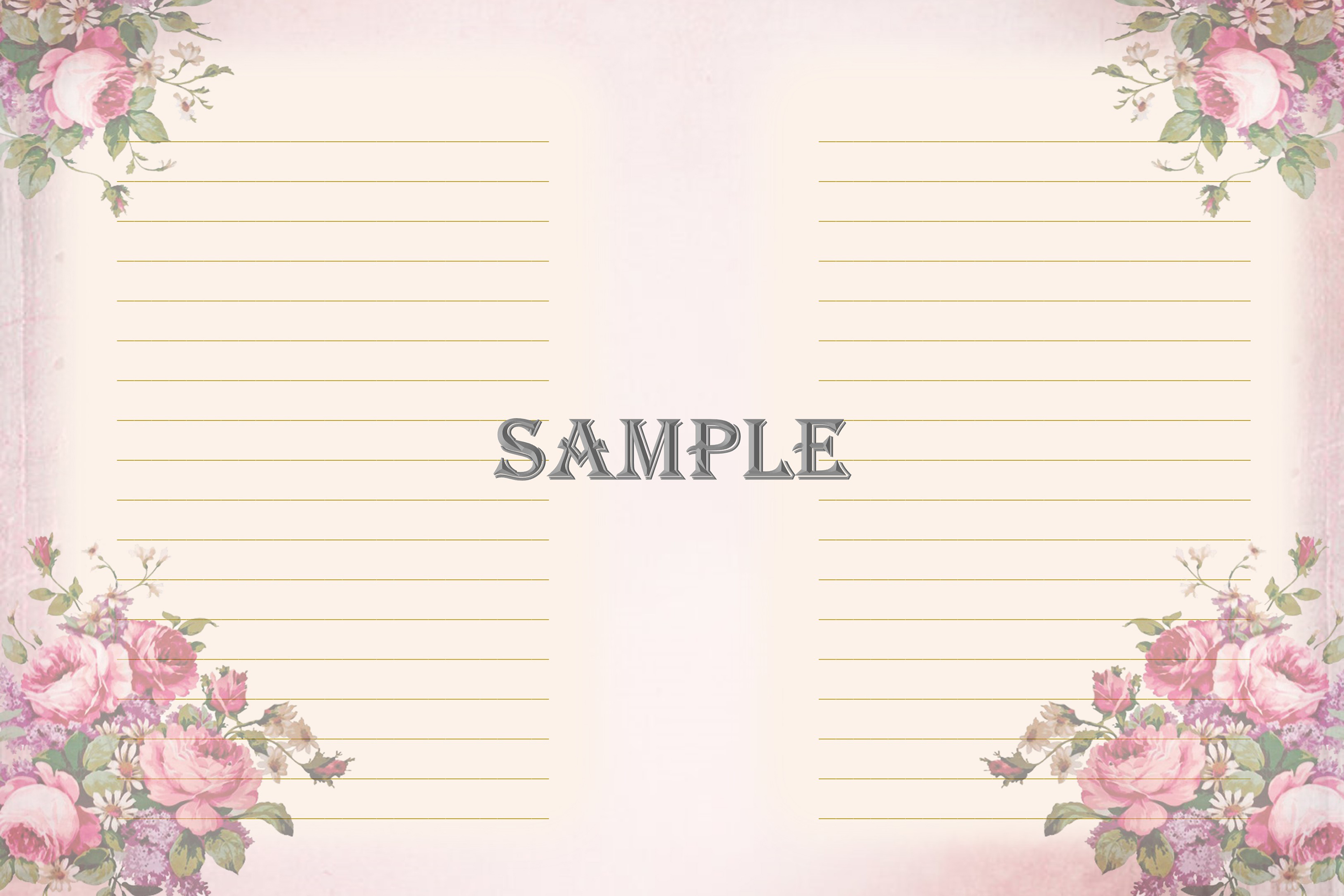 Vintage Ladies Backgrounds, Collage or Journal Sheets, A4 example image 8