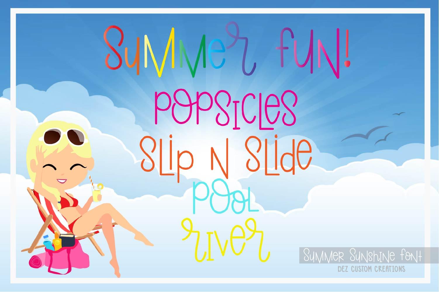 Summer Sunshine Hand Lettered Font  example image 4