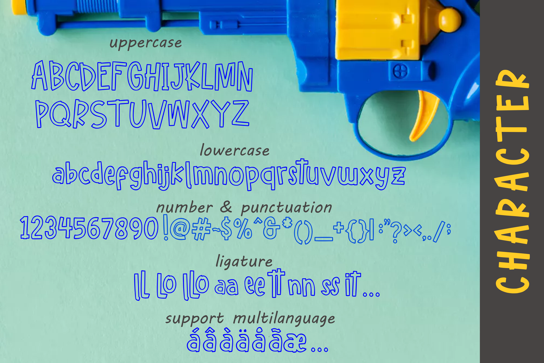Hello freeday 2 Style font - free Easter Splash example image 6