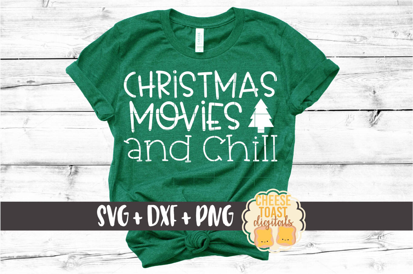 Christmas Movies and Chill - Holiday SVG PNG DXF Cut Files example image 1