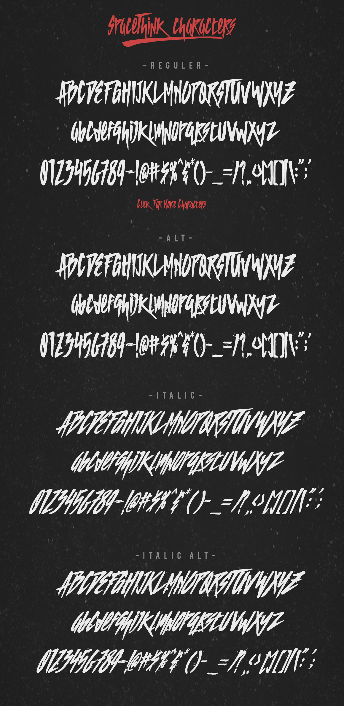 SPACETHINK Typeface example image 2