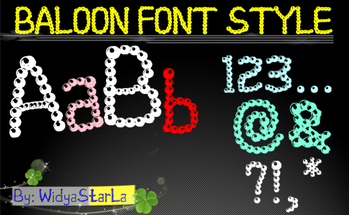 baloon font style example image 1