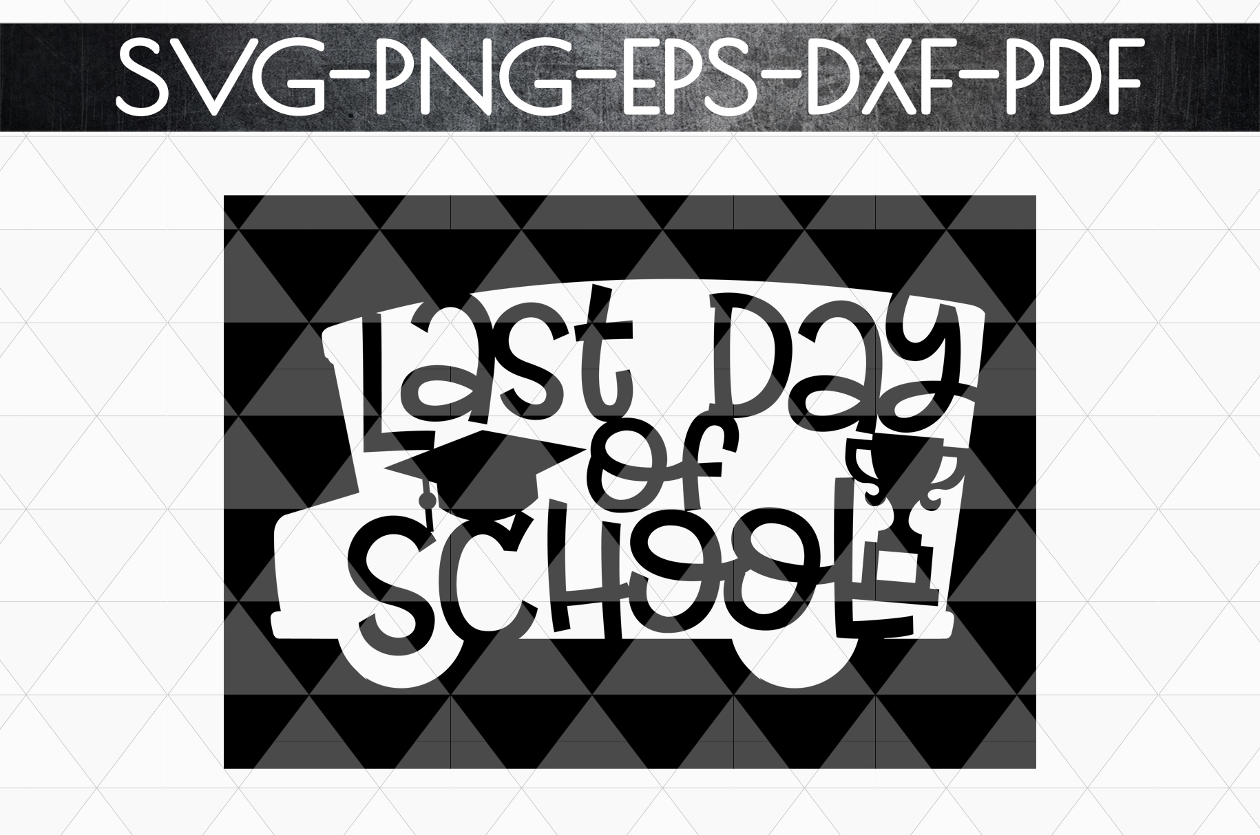 Last Day Of School Paper Cut Template, Summer SVG, PDF, DXF example image 5