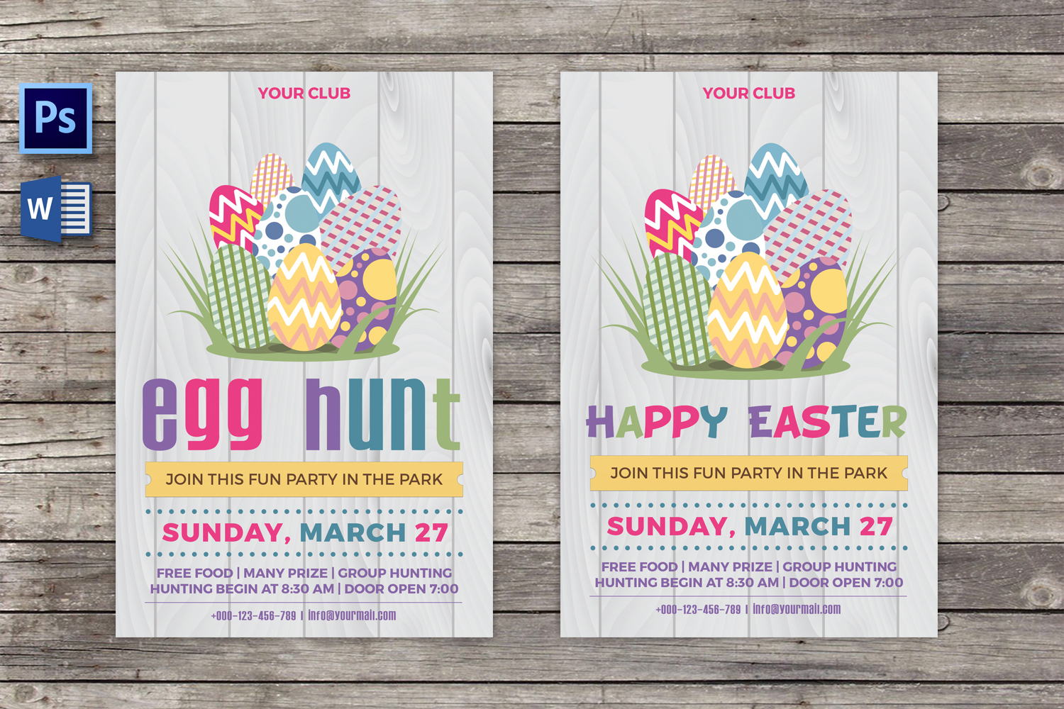 Easter Egg Hunt Party Flyer example image 1