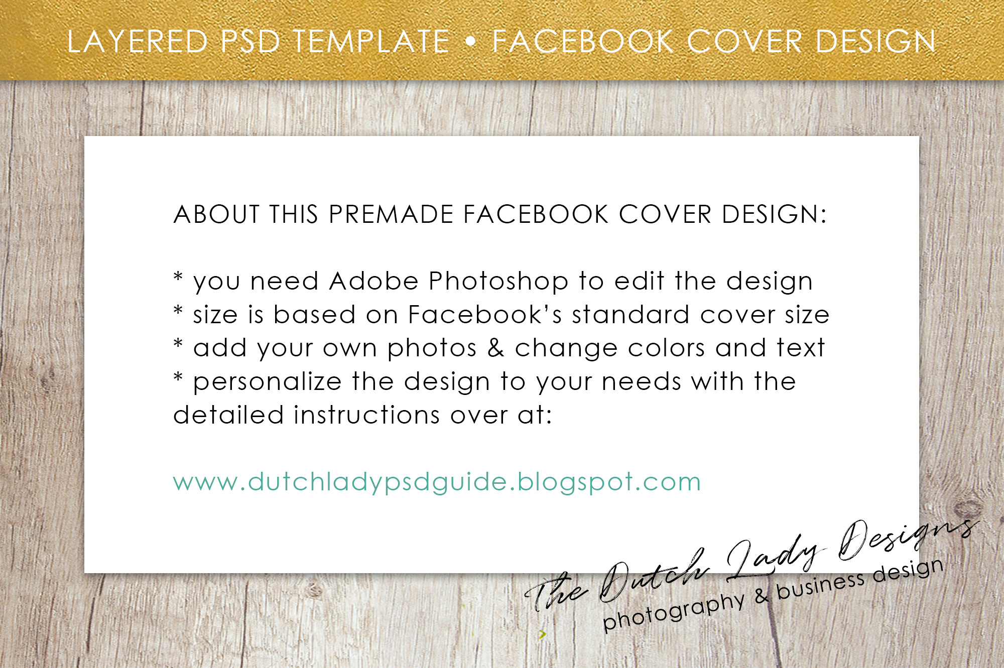 Photography Facebook Cover Banner Template - Design #13 example image 5