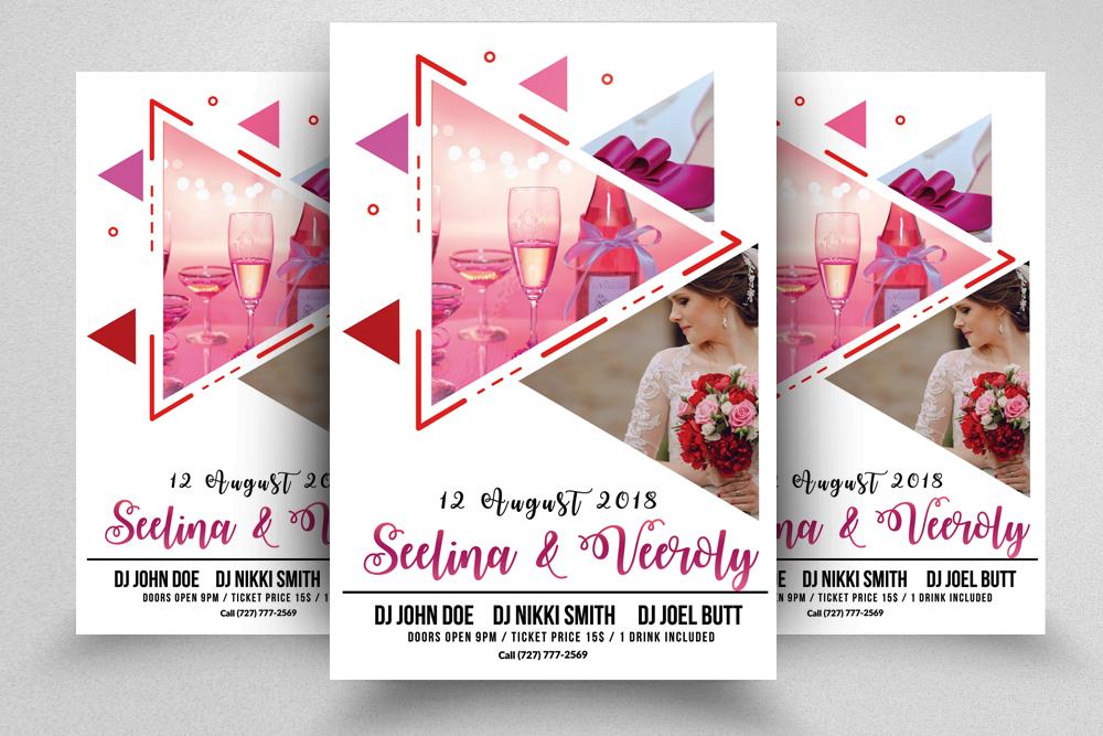 wedding event planner flyer