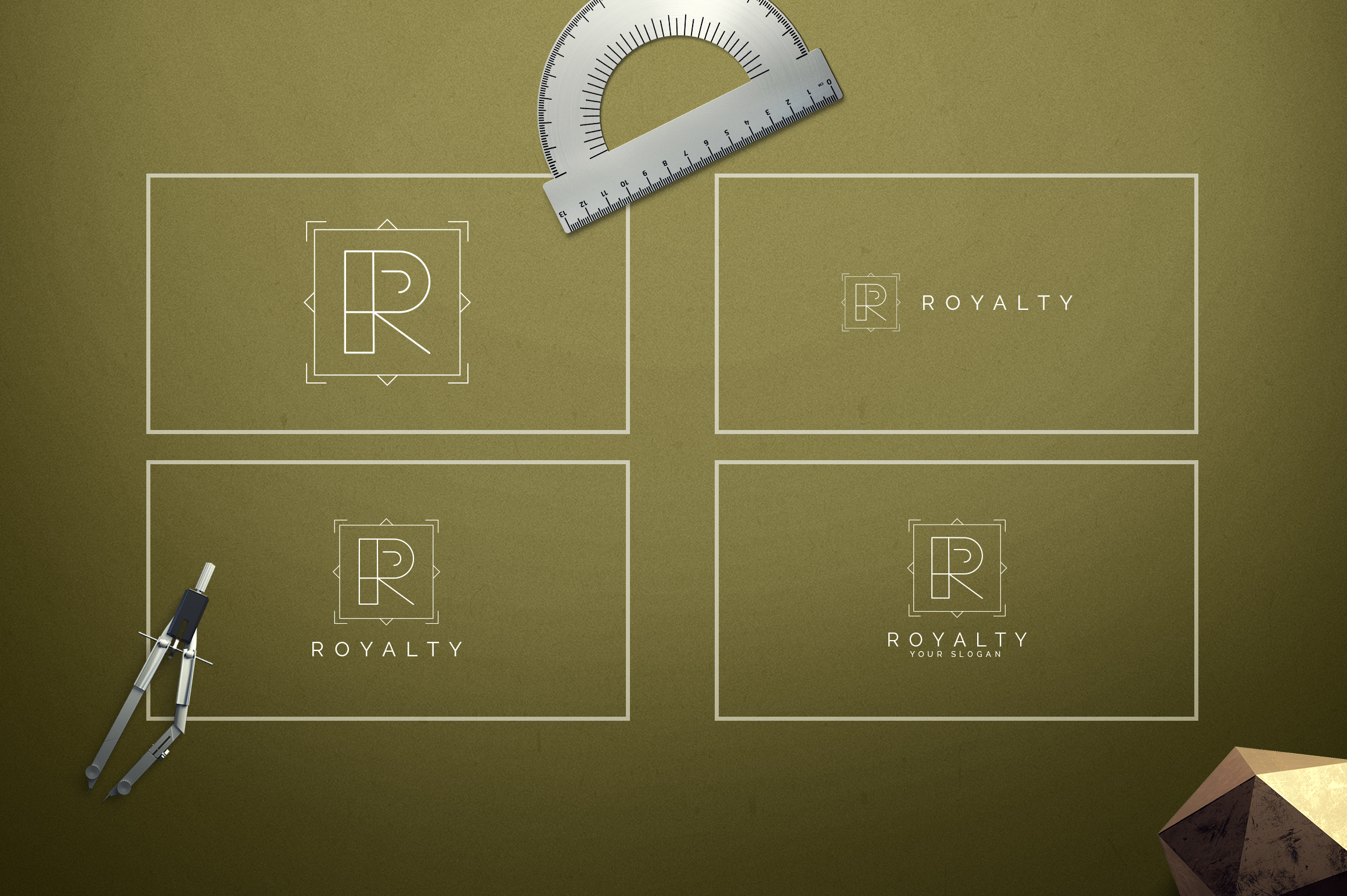 Geometric Letters and Logo Designs example image 19