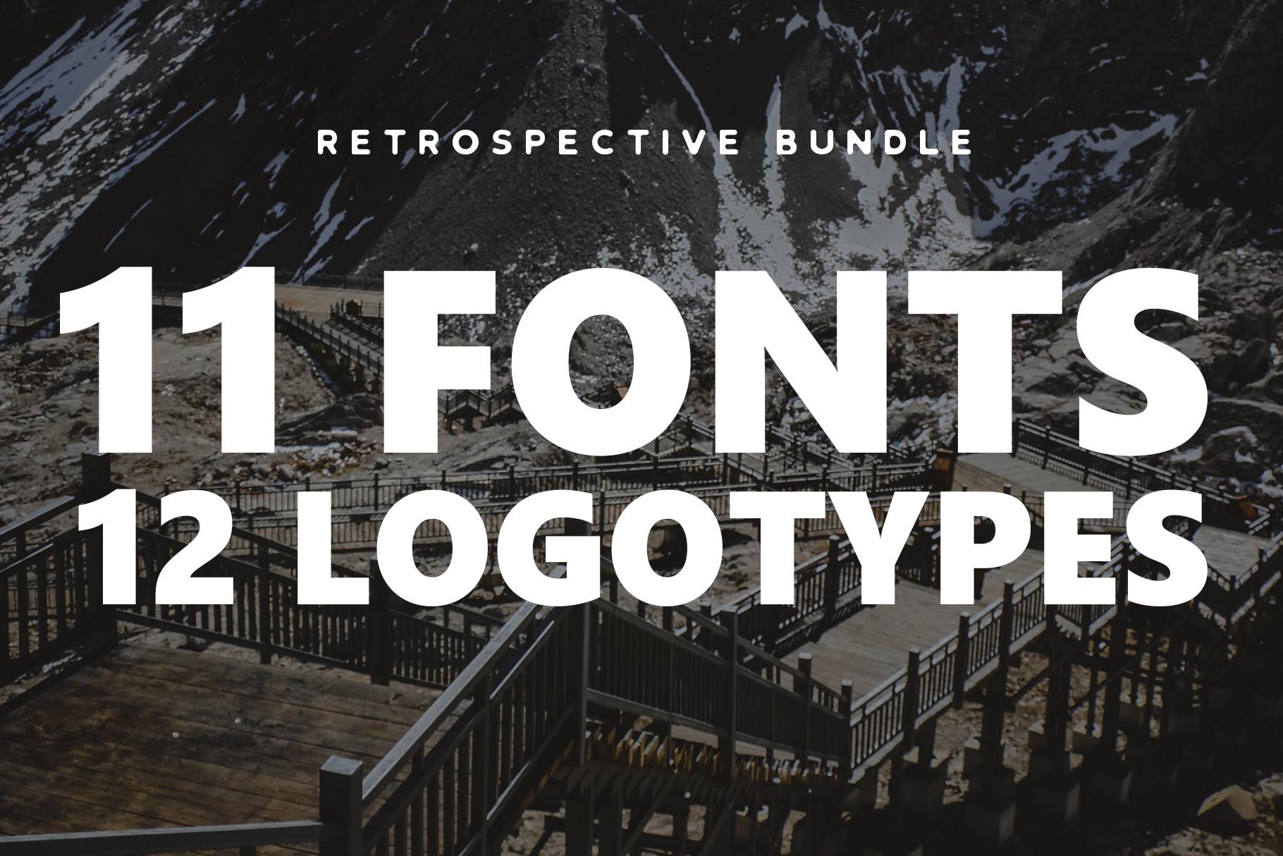 Retrospective Bundle - Fonts & Logos example image 1