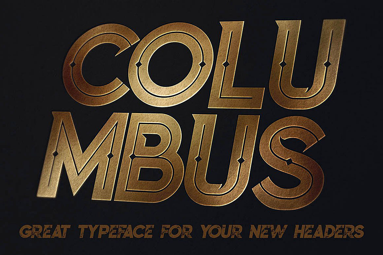 Columbus Typeface example image 3