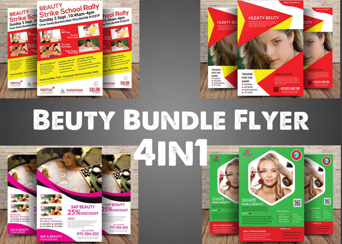 Beuty Bundle Flyer 4in1 example image 1