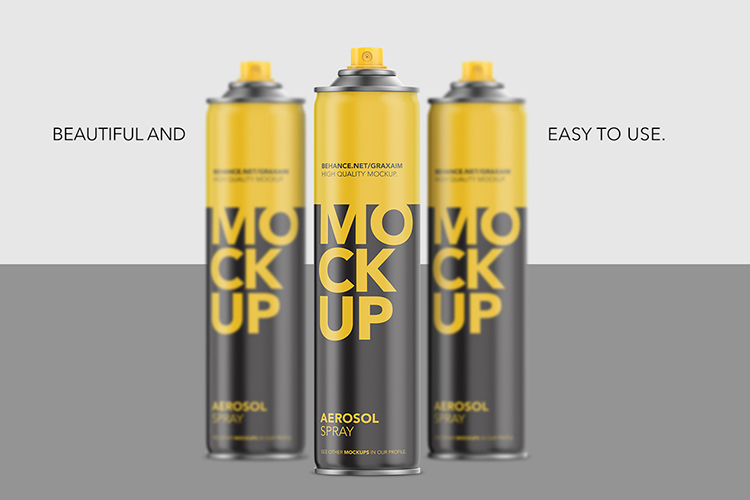 Aerosol Spray Matte Front Mockup Tall example image 1