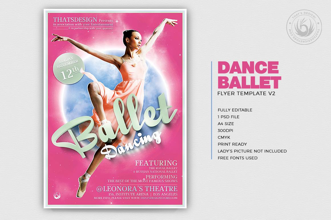 Dance Ballet Flyer Template V2 example image 2